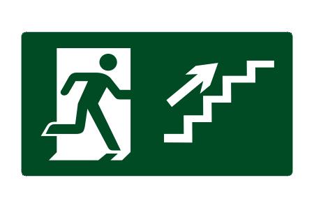placa de sinalizacao escada